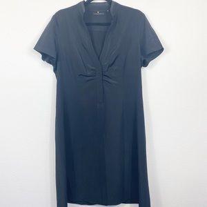 Elie Tahari Black Silk Dress Size 14